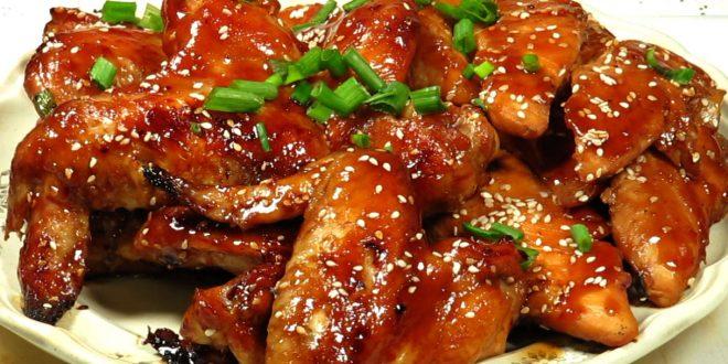 أجنحة دجاج بالباربكيو