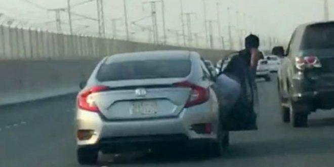 المرور يعلن ضَبْط المتشاجرين بطريق عام في فيديو المطاردة