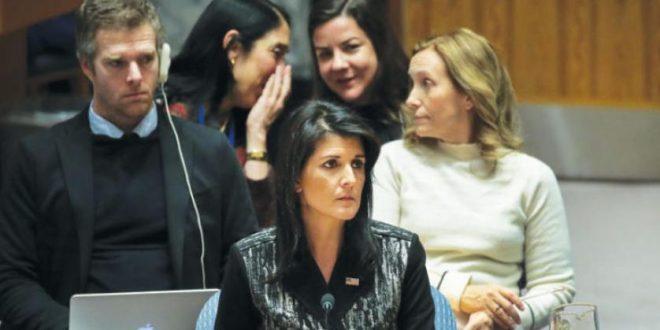 هيلي: لا يمكن لإيران أن تستغل مبدأ السيادة كدرع لحماية أفعالها ضد شعبها