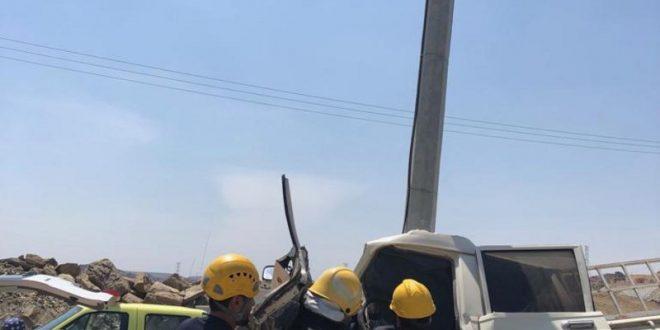 انقلابان وحادث تصادم تخلف 4 وفيات في الباحة