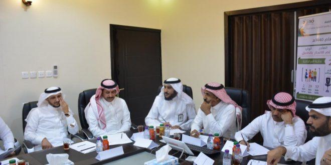 آل شائق يعقد اجتماعاً لمدراء الفروع بالمنطقة