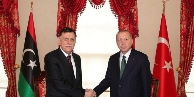 أردوغان يستبق مؤتمر برلين بلقاء السراج في جلسة مغلقة